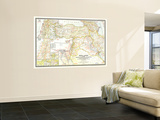 1946 Bible Lands, and the Cradle of Western Civilization Map Mural