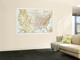 1956 United States of America Map Wall Mural
