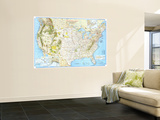 1966 Vacationlands of the United States and Canada Map Wall Mural