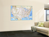 1987 United States Map Wall Mural