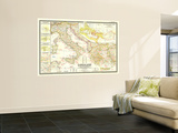 1949 Classical Lands of the Mediterranean Map Wall Mural