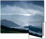 Foggy Landscape of River and Rolling Hills Plakater av Tommy Martin