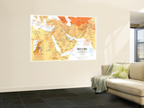 1980 Mideast in Turmoil Map Wall Mural