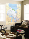 1978 Ontario Canada Map Wall Mural by  National Geographic Maps