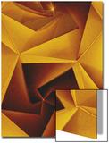 Golden Geometric Pentagons Posters av Tim Kahane