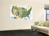 United States Physical Landscape 1996 Vægplakat af National Geographic Maps