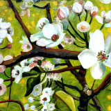 Blossom Lullaby III Art by Mary Mclorn Valle