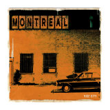 Montreal Vice City in Orange Posters by Pascal Normand