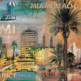 Ocean Drive, Miami II Poster von John Clarke