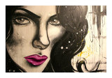 Mercedez Pink-Lips Prints by Vicky Filiault