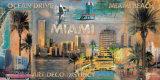 Ocean Drive, Miami Poster von John Clarke