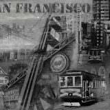 San Francisco in Black and White II Print by John Clarke