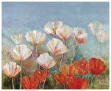 Blushing Poppies Print by Angellini
