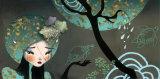 Mon Jardin aux Tortues Prints by Anna Ziliz