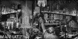 Manhattan Panorama in Black and White II Kunstdrucke von John Clarke