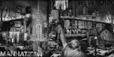 Manhattan Panorama in Black and White II Posters by John Clarke