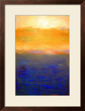 Golden Sunset On Lake Michigan Poster by Michelle Calkins
