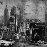 Manhattan in Black and White II Art by John Clarke