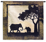 Serengeti Elephants Wall Tapestry by Jennifer Pugh