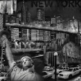 Manhattan in Black and White IV Prints by John Clarke