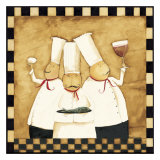 Bistro Chefs Prints by Dan Dipaolo