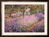 The Artist&#39;s Garden at Giverny, c.1900 Prints by Claude Monet