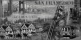San Francisco Panorama in Black and White I Poster by John Clarke