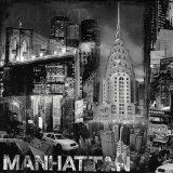 Manhattan in Black and White III Posters by John Clarke