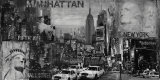 Manhattan Panorama in Black and White I Posters by John Clarke