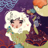 Cils Pistils Art by Anna Ziliz