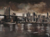 New York – Brooklyn-Brücke Kunstdruck von Yuliya Volynets