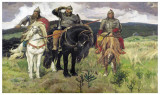 Bogatiri Kunstdrucke von Victor Mikhailovich Vasnetsov