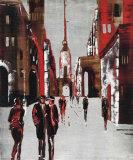 City Scene III Print by Elena Radzetska