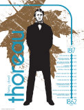 Henry David Thoreau Posters par Jeanne Stevenson