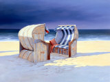 Beach Chairs I Posters by Sigurd Schneider