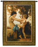 Girl Defending Herself Against Love Wall Tapestry by William Adolphe Bouguereau