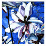 White Flower II Posters by Mary Mclorn Valle