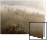 Morning Fog and Clouds Break over the Hills East of Town, Colorado Posters by Michael S. Lewis