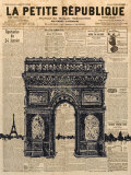 Paris Journal II Poster by Maria Mendez