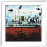 New York, View over Brooklyn Print by Tony Soulie