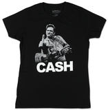 Women's: Johnny Cash - Flippin' T-シャツ