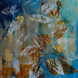 Jewelled Leaves XII Print by Jennifer Hollack
