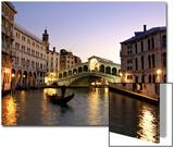 Rialtobrug, Canal Grande, Venetië, Italië Posters van Alan Copson