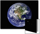 Full Earth Showing North America (With Stars) Prints by  Stocktrek Images