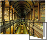 Gallery of the Old Library, Trinity College, Dublin, County Dublin, Eire (Ireland) Plakater av Bruno Barbier