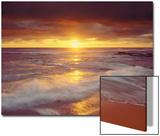 Playa Sunset Cliffs en el océano Pacífico al atardecer, San Diego, California, EE UU Lámina por Christopher Talbot Frank