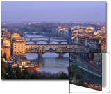 Ponte Vecchio and Arno River, Florence, Tuscany, Italy Print by Steve Vidler