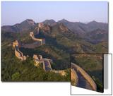 De Chinese muur bij Jing Hang Ling, Unesco werelderfgoedlijst Print van Adam Tall