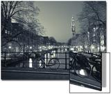 Prinsengracht and Westerkerk, Amsterdam, Nederland Plakater av Jon Arnold