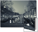 Prinsengracht and Wsterkerk, Amsterdam, Holland Print by Jon Arnold